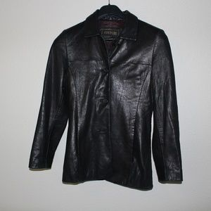 COUTURE BY J PARK LAMB SKIN LEATHER JACKET